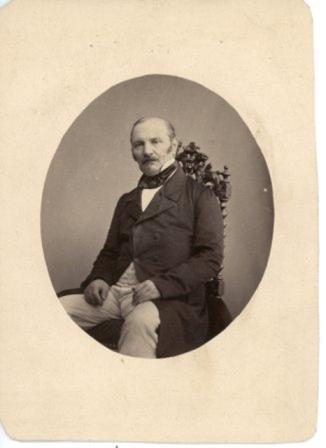 Fotografía de Allan Kardec 2, retocada,(Librairie Leymarie) (XIX)