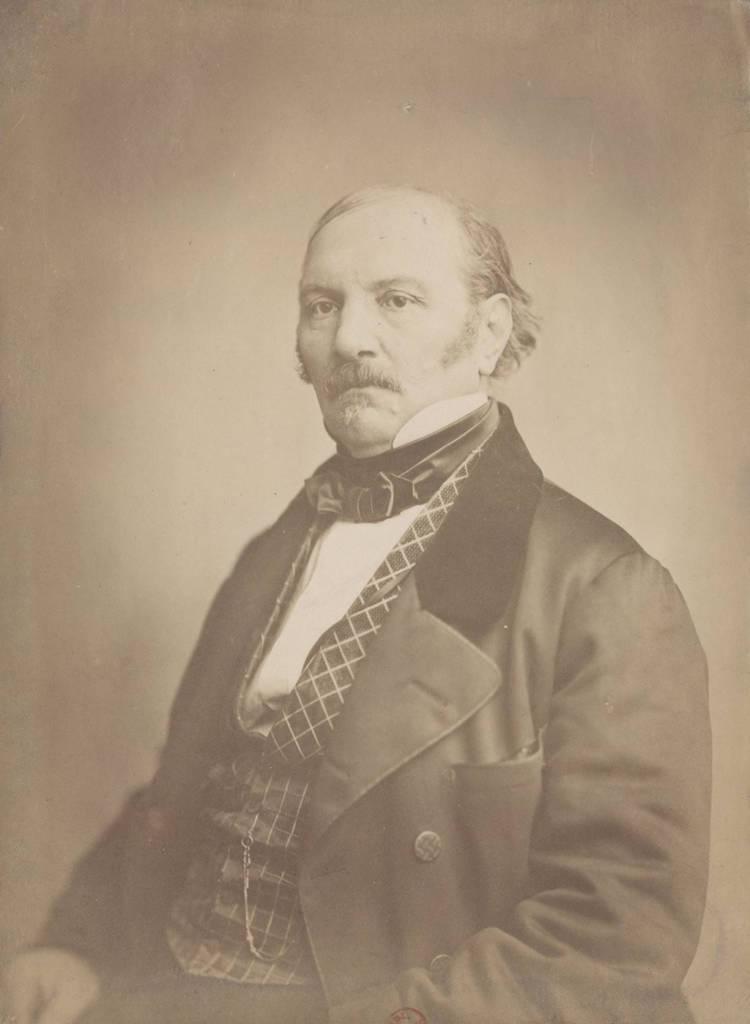 Retrato del Sr. Allan Kardec 3, dibujado y litografiado por el Sr. BERTRAND, pintor. (Siglo XIX)