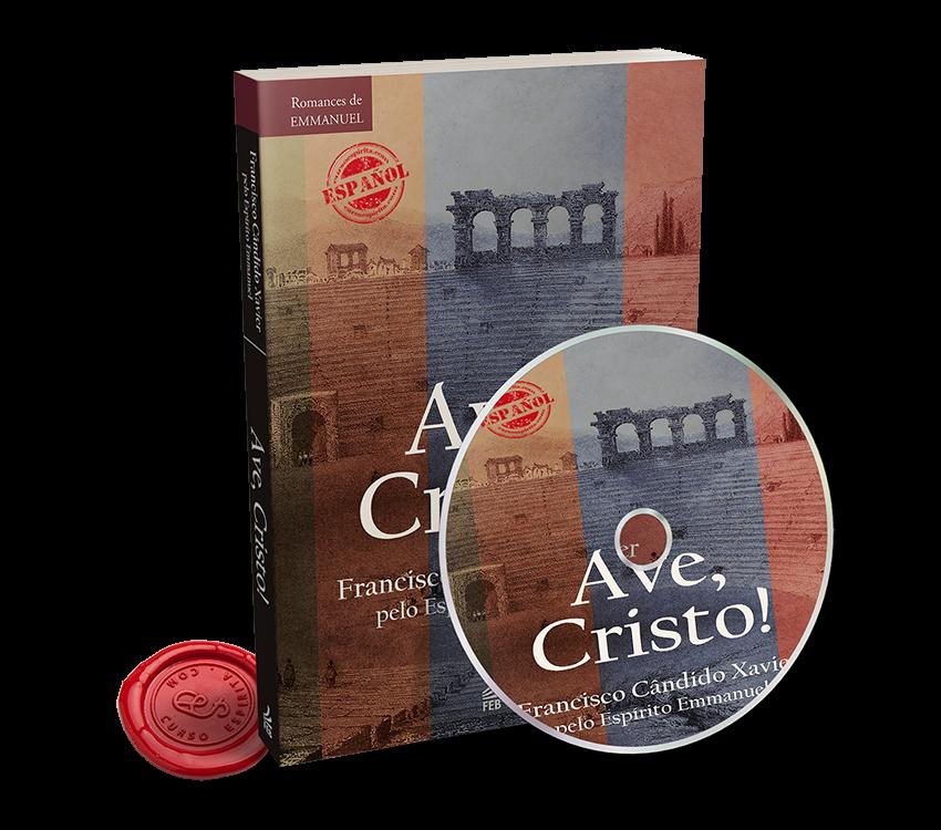 Portada Audiolibro Ave Cristo dictado por Emmanuel al médium Francisco Cándido Xavier en pdf