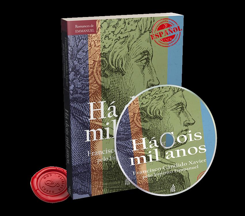 Portada Audiolibro Hace 2000 Años dictado por el Espíritu Emmanuel al médium Francisco Cándido Xavier
