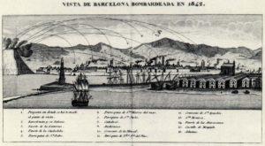 Bombardeo de Barcelona por la artillería en 1842