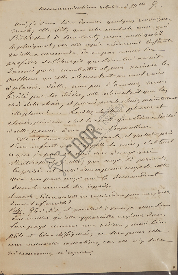 Carta manuscrita de Allan Kardec a la señora Van Calcar página 3