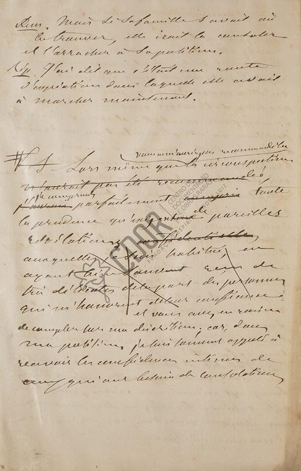 Carta manuscrita de Allan Kardec a la señora Van Calcar página 4