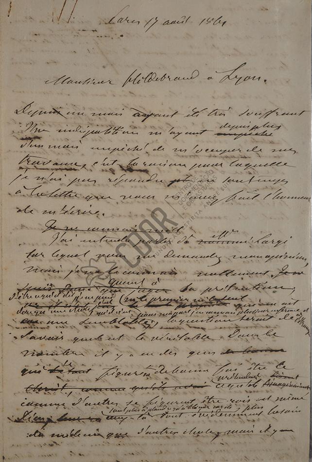 Carta de Allan Kardec a Hildebrand 1