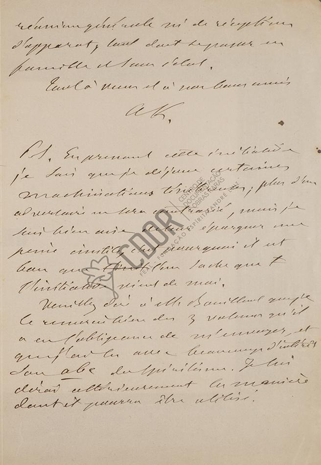Carta de Allan Kardec a Villon 25-07-1863 Página 3