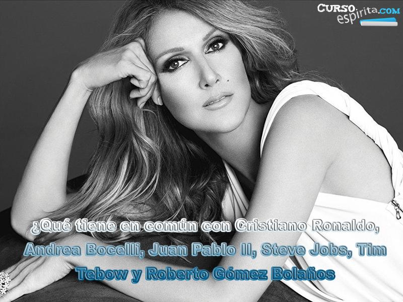 Fotografía de Celine Dion que ilustra el video testimonios en defensa de la vida