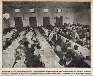 Imagen de una de las comidas en el Centro Fraternidad Humana