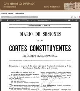 Diario de Sesiones Espiritismo en las Cortes