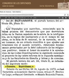 Diario de Sesiones Proyecto de ley del Espiritismo