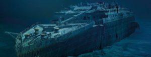 El Titanic en el fondo del mar