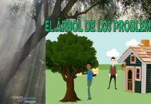 Ilustración del cuento el árbol de los problemas