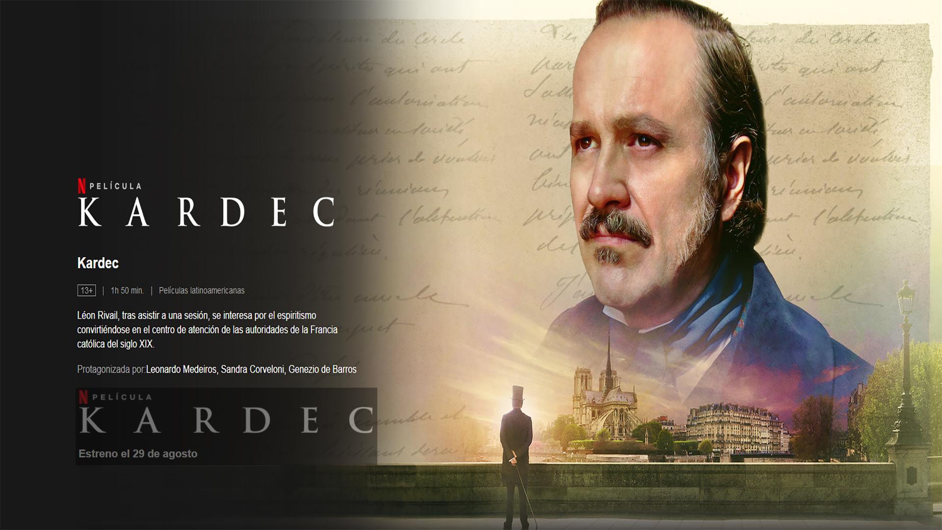 Imagen del trailer sobre la película de Kardec
