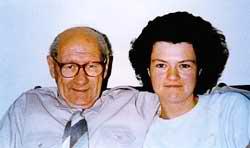 Jenny Cockell en otra fotografía junto a su hijo