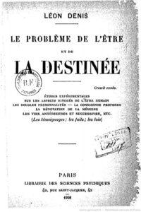 Portada Original El  Problema del Ser y del Destino por Léon Denis