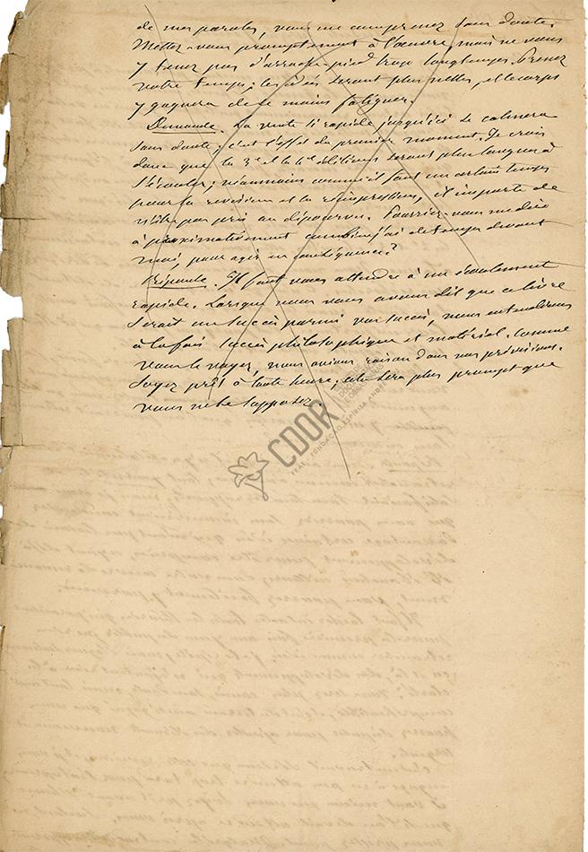 Manuscrito de Allan Kardec sobre La Génesis 21-2-1868 Página 2