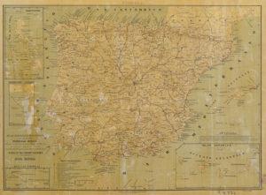 Mapa Balneario de España por el Dr. García López