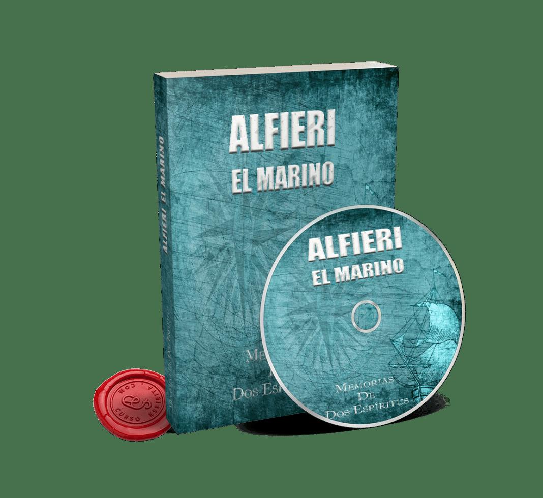 Portada Audiolibro Alfieri el Marino, novela espiritista