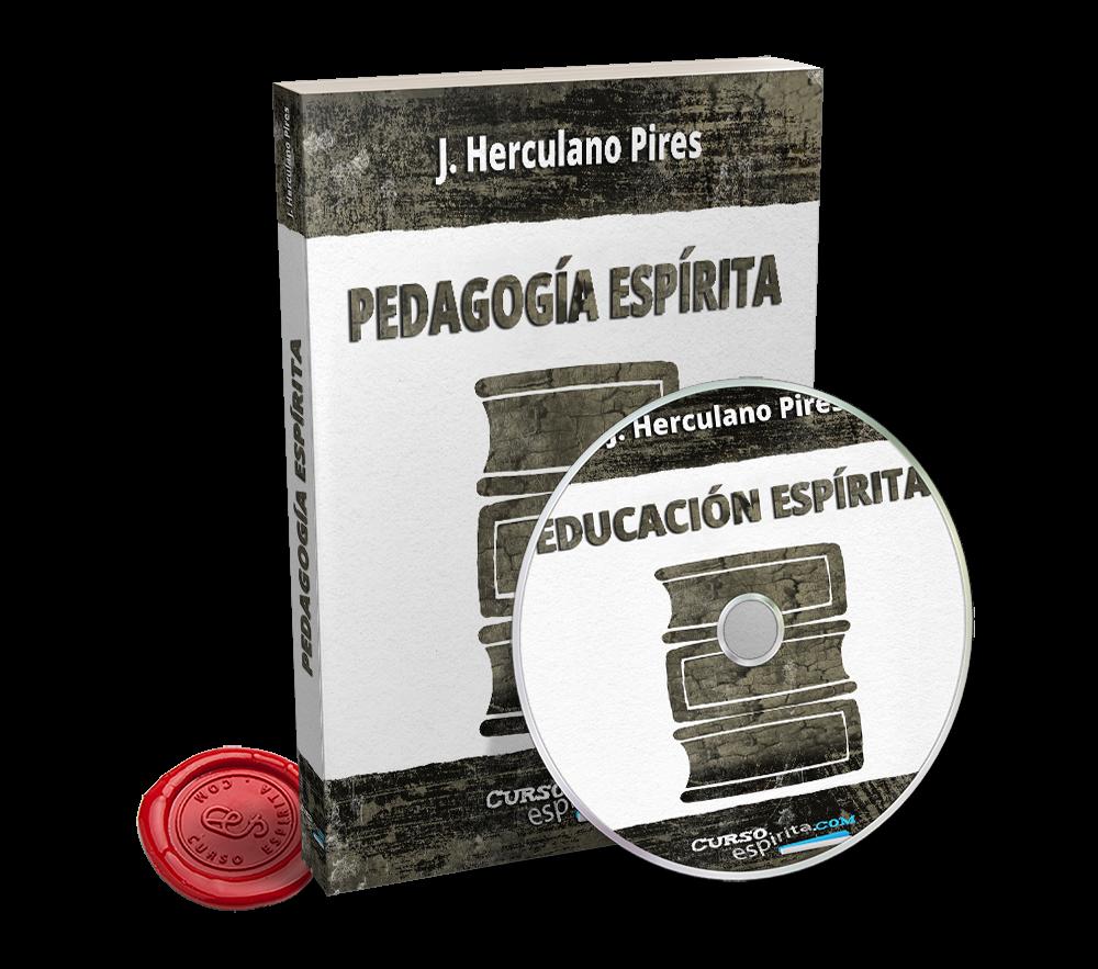 Portada Audiolibro Pedagogía Espírita por J. Herculano Pires