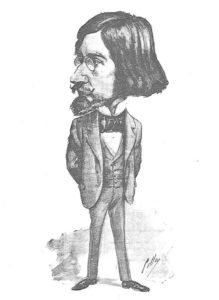 Caricatura de Valle-Inclán en el Madrid Cómico, 11 de diciembre de 1897