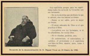 Recuerdo de la desencarnación de Miguel Vives