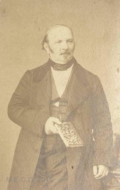 Retrato de Allan Kardec 5 (Hippolyte Léon Denizard Rivail) - Título de la imagen [Allan Kardec-spirite] - Ilustraciones y fotos - Colección Muruais - (Siglo XIX)