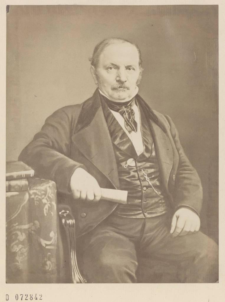Retrato del Sr. Allan Kardec 4, dibujado y litografiado por el Sr. BERTRAND, pintor. (Siglo XIX)