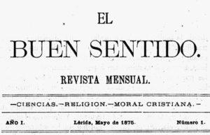 Vista El Buen Sentido de Mayo de 1875