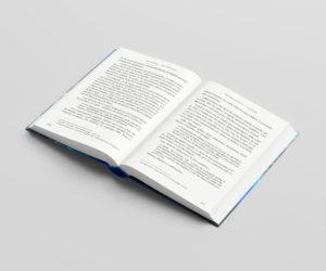 Vista del libro En lo Invisible abierto por la mitad