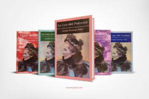 Vista de La Luz del Porvenir junto a otros libros de la serie