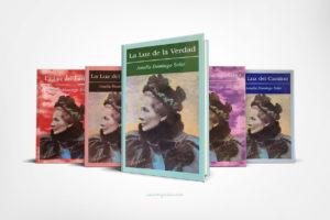Vista de la Luz de la Verdad junto a otros libros de la serie