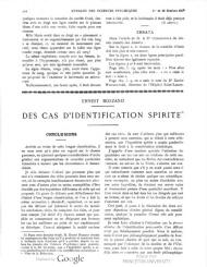 Bozzano Annales des Sciences Psychiques