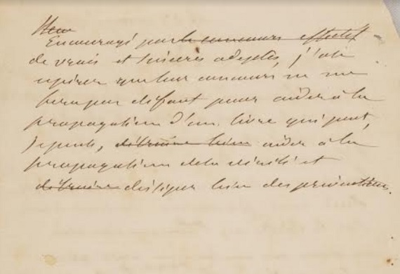 Carta a Patier de Allan Kardec segunda hoja